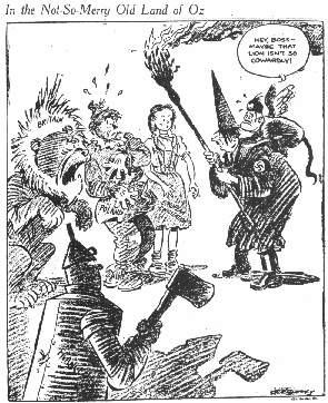 1939 Wizard of Oz Political Cartoon